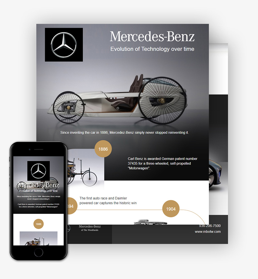 HTML Infographic for Mercedes Benz