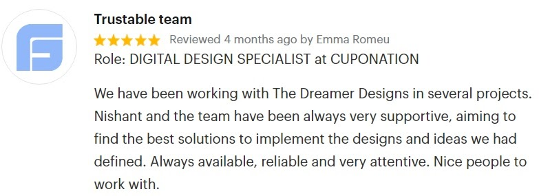 The Dreamer Designs testimonial