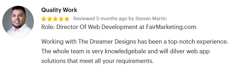 The Dreamer Designs Testimonial by Fair Marketing